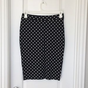 H&M Polka Dot Pencil Skirt size:M